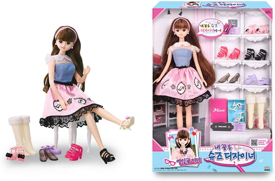 Amazon Com Mimi World 17 Year Old Mimi Wanne Be A Shoes Designer Fashionistas Barbie Doll Doll Accessories Clothing And Shoes Toys Games