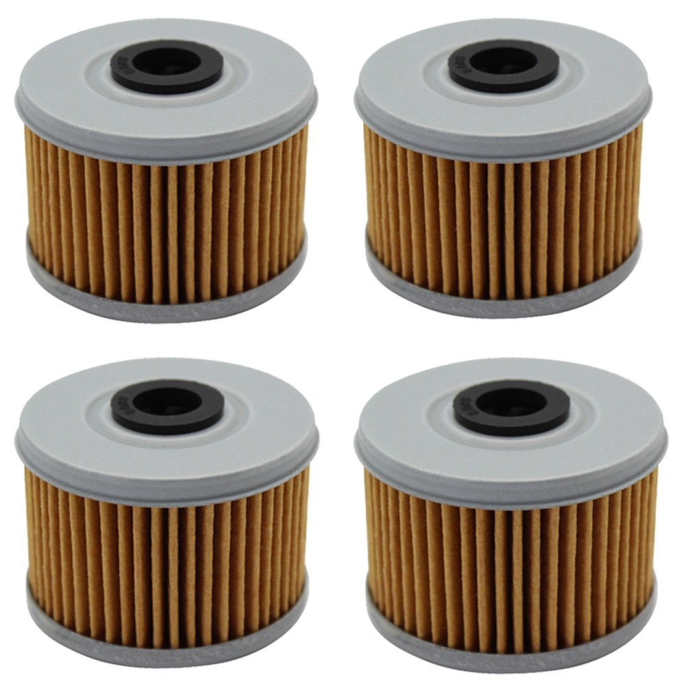 Cyleto Oil Filter for HONDA TRX400EX 1999-2008 TRX400FW FOREMAN 400 4X4 1995-2003 (Pack of 4)