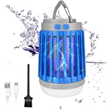 2020 Bug Zapper Outdoor Camping Lantern LED Flashlight, 3-in-1 Portable IPX7 Waterproof Mosquito Killer Camp Lamp LED…