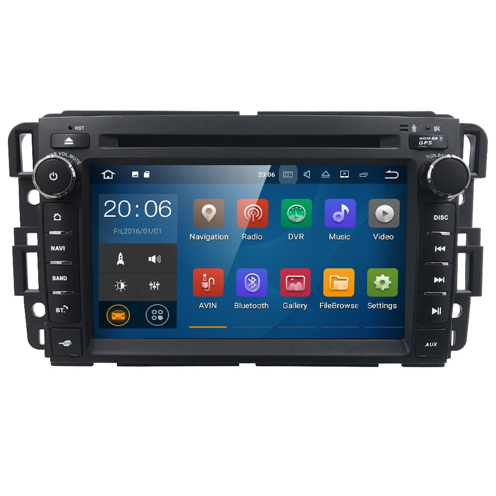 7 inch Android 7.1 Quad Core 2 Din In Dash Touchscreen Car Stereo DVD Player FM/AM Radio Receiver Navigation Bluetooth for GMC Chevy Silverado 1500 2012 GMC Sierra 2011 2010