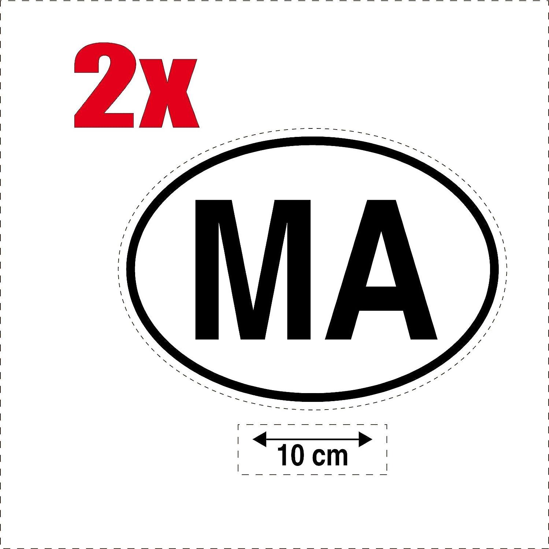 SAFIRMES 2X Autocollant Sticker Drapeau Oval Code Pays Voiture Moto E-Espagne