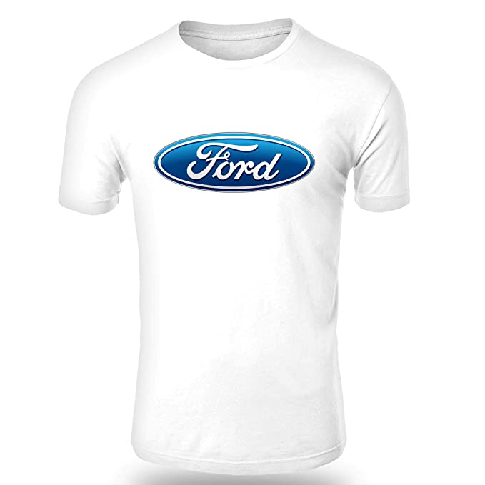 Ford T Shirt Logo Clipart Herren Car Auto Tee Top Schwarz Weiß Short