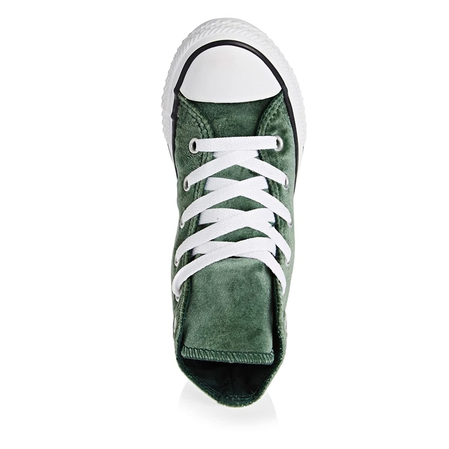 Converse Kids Allstar Velvet-Hi Boots In Green: Amazon.co.uk: Shoes & Bags
