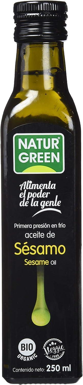 NaturGreen Aceite de sésamo Bio de Primera Presión - 250 ml.