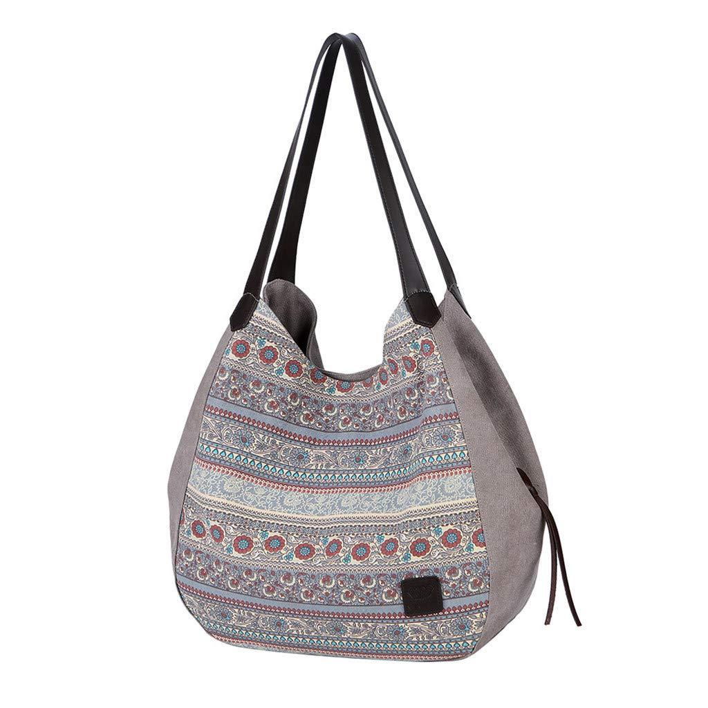 cd8568464f91 Amazon.com: AgrinTol Women Large Capacity Canvas Handbag Single ...