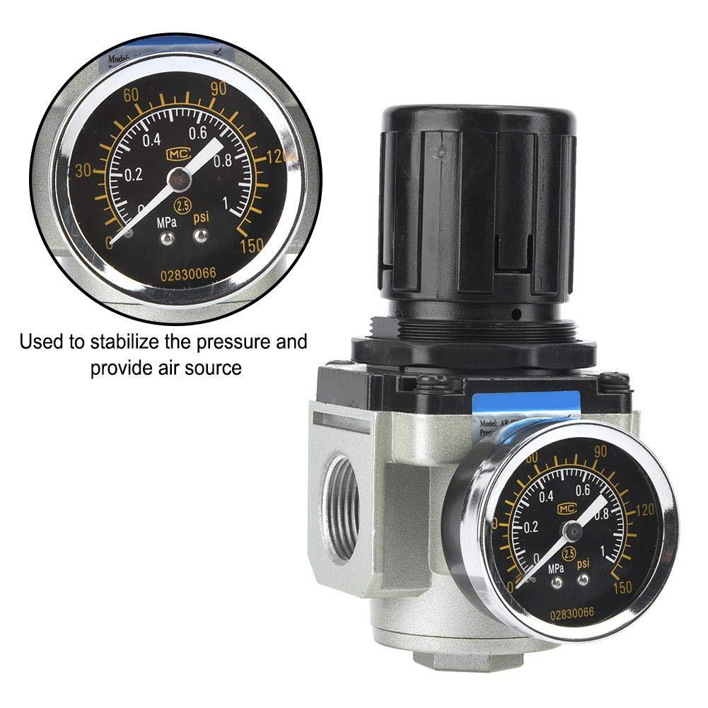 AR4000-06 Pressure Reduce Valve G1//4 0.05-0.65mpa SMC Air Source Compressor Adjustable Pressure Regulator Reduce Valve