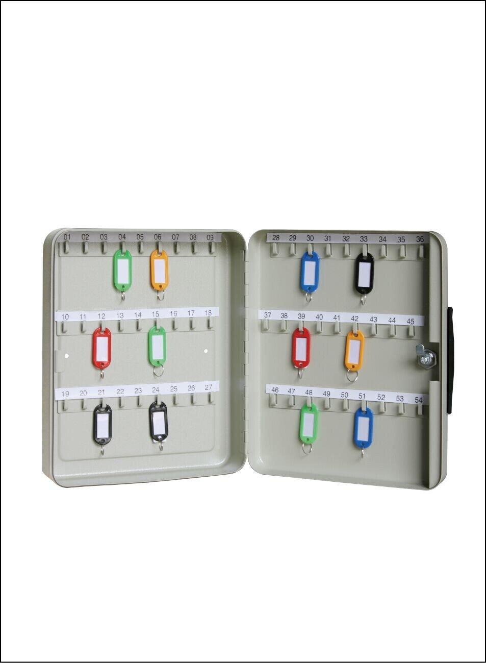 Schlüssel-Kasten Schlüsselkasten Schlüsselschrank aus Stahl mit 54 ...