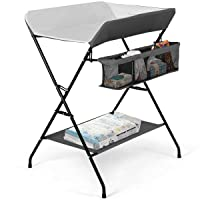 Costzon Baby Changing Table, Folding Diaper Station Nursery Organizer for Infant...