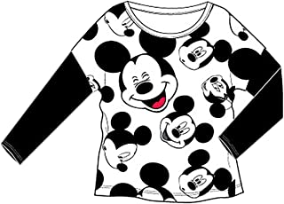 Disney Mickey Mouse 'Face All Around' Juniors Womens Slim Fit Long Sleeve T Shirt FR340915SM