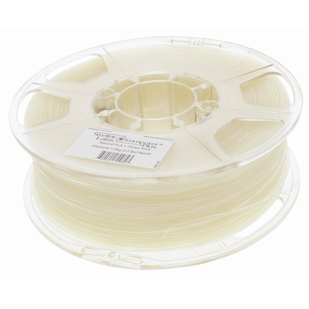 1.75mm Natural PLA 3D Printing Filament 1kg (2.2lbs) Spool