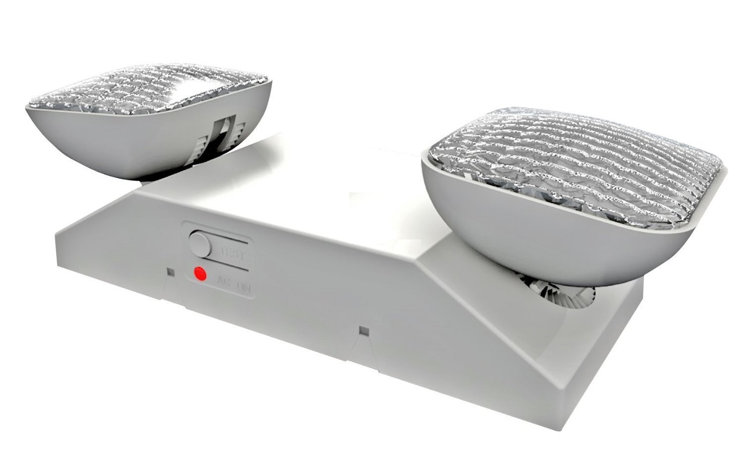 LED Two Head Emergency Light with Battery Back-up White by Ciata Lighting