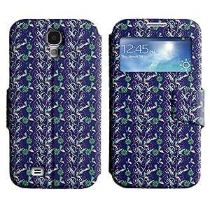 LEOCASE patrón increíble Funda Carcasa Cuero Tapa Case Para Samsung Galaxy S4 I9500 No.1003706