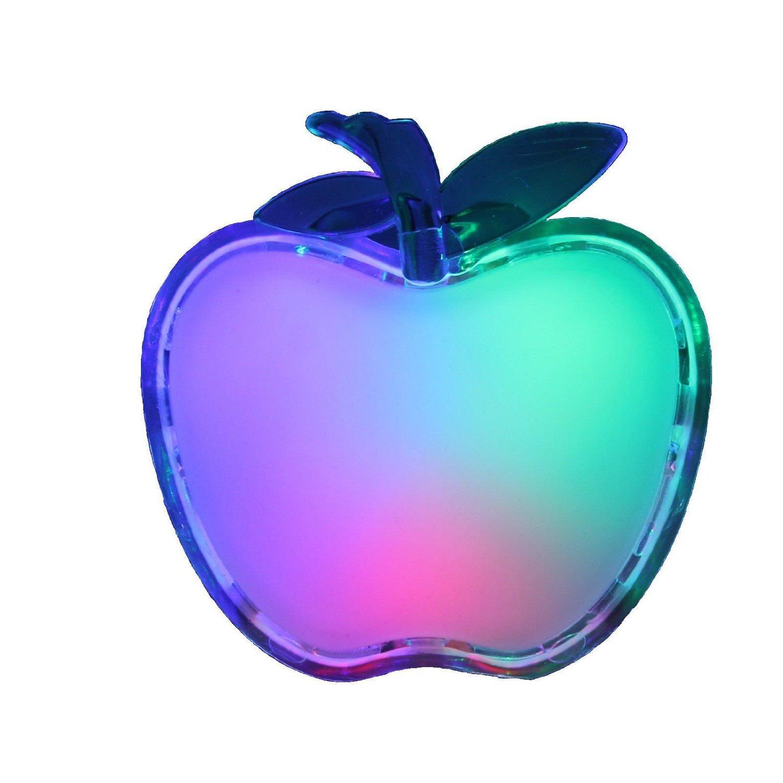 Lumi/ère durgence LED Veilleuse Pomme Prise lumi/ère nuit lampe papillon Veilleuse Veilleuse LED avec effet arc-en-ciel et un//en automatique Apple