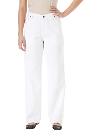 e1718163fbf Plus Size Woman Within Relaxed 5-Pocket Jeans (34) at Amazon Women s ...