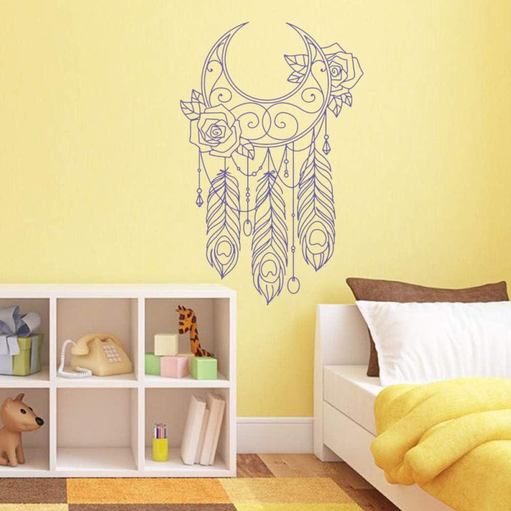 Modeganqingg Diseño de Arte decoración del hogar atrapasueños Flor y Luna Etiqueta de la Pared decoración del hogar extraíble 28cmX43cm: Amazon.es: Hogar