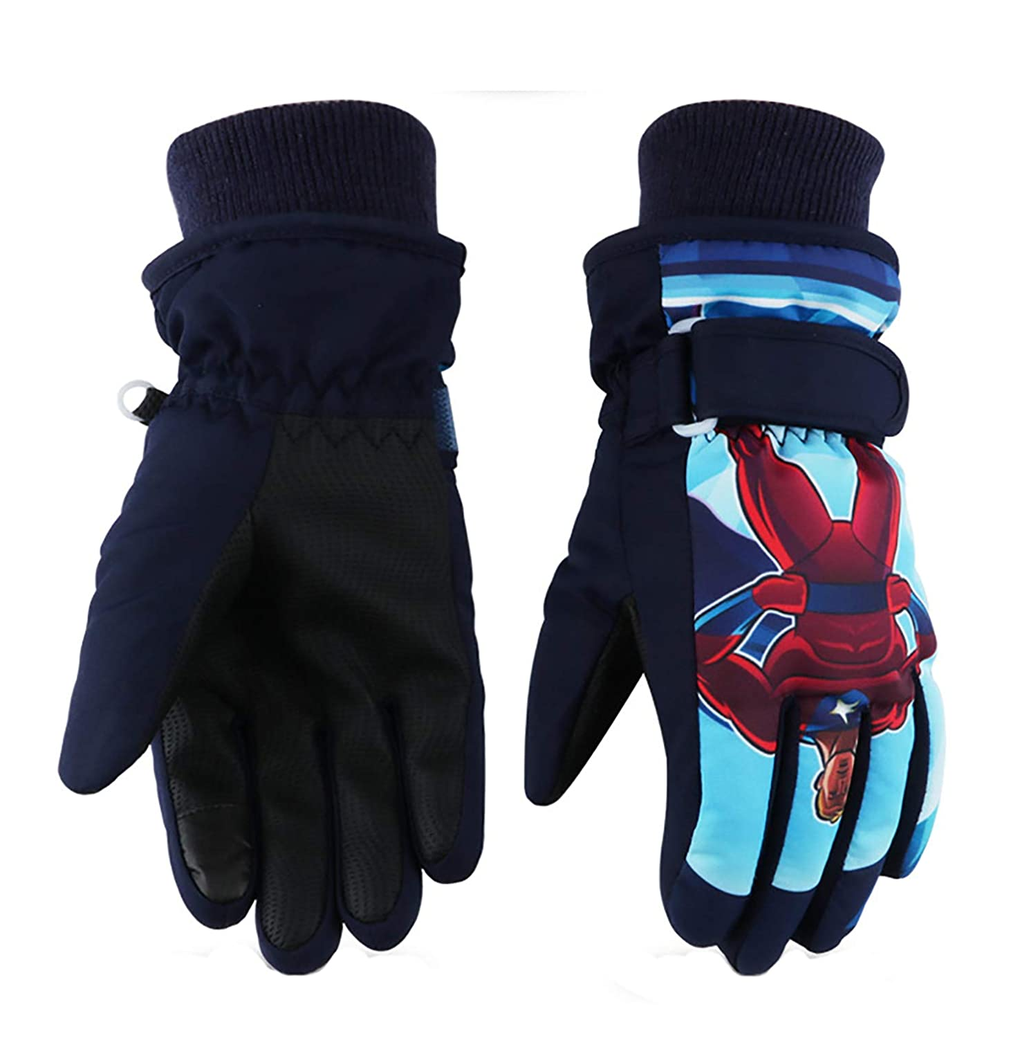 Kids Ski Gloves,Winter Warmest Waterproof and Breathable Snow Gloves for Boys Girls Children Skiing,Snowboarding Shoveling Windproof Juniors Thermal Gloves GL8