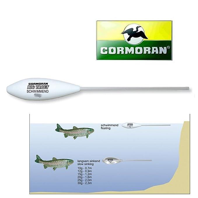 Cormoran Big Trout Sbirolino schwimmend wei/Ã/Ÿ 30g SB1
