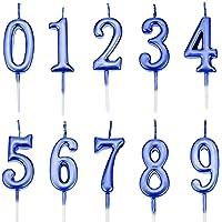 Feelairy 10 Piezas Números de Velas de Pastel
