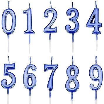 Feelairy 10 Piezas Números de Velas de Pastel Cumpleaños ...