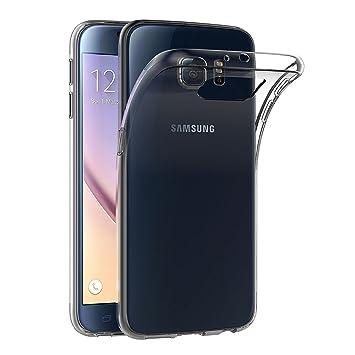 AICEK Funda Samsung Galaxy S6, Transparente Silicona Fundas ...