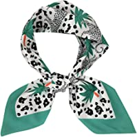 Forwelly Square Scarf Women's Fashion Floral Print Ladies Hand made Bag Hat Headband Tied Handle Small Ribbon Scarf