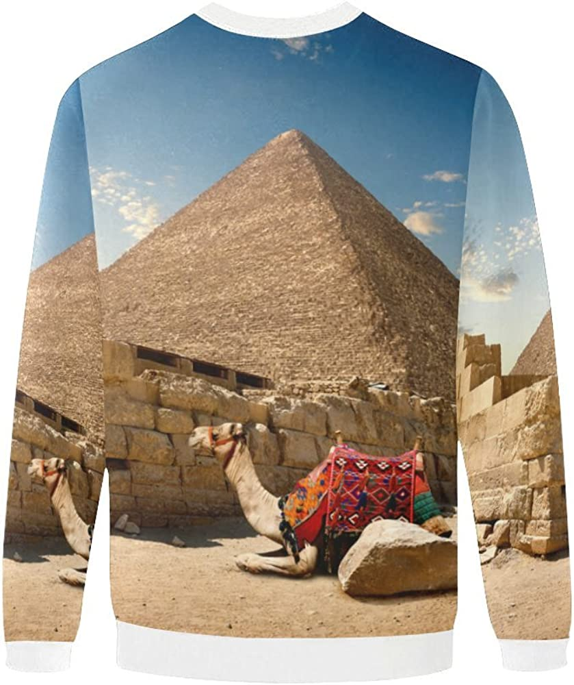 LumosSports Egyptian Sphinx and Pyramid Mens 3D Printed Pullover Sweatshirt Sizes S-5XL