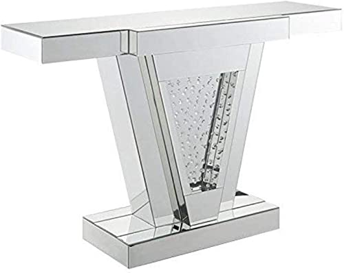 ACME Nysa Console Table – – Mirrored Faux Crystals