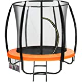 6 ft Trampoline Kahuna Jumper Outdoor Round Pad Mat Net Ladder - Orange