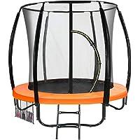 6 ft Trampoline Kahuna Jumper Outdoor Round Pad Mat Net Ladder - Orange