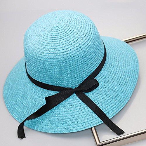 Durable Modelando LOF-fei Mujer verano sombrero para el sol sombrero de paja  plegable de be0fb80911d