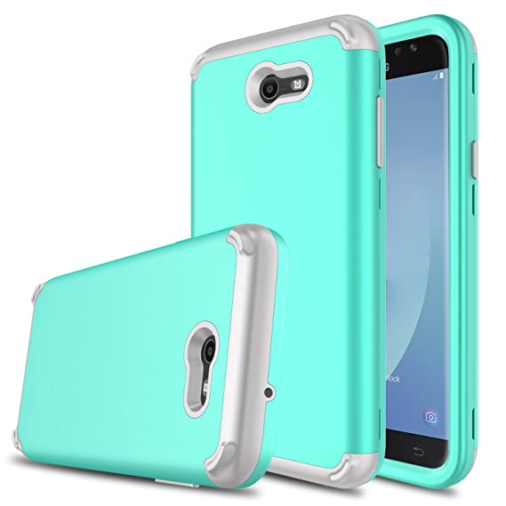 DONWELL Galaxy J7 2017 Hybrid Three Layer Shockproof Protective Hard Armor Phone Case Cover Protector for Samsung Galaxy J7 Sky Pro/J7 ...