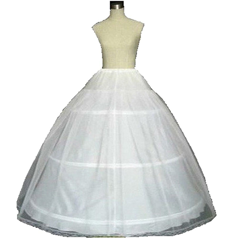 White Ball Gown Petticoat Quinceanera Dresses Crinoline Underskirt for Women