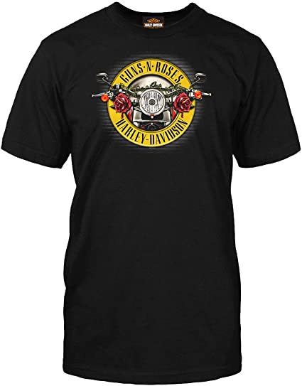Black Harley-Davidson Men/'s Guns N/' Roses Barbed Skull Short Sleeve T-Shirt