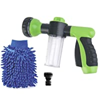 Deals on Buyplus High Pressure Garden Hose Foam Nozzle 8 Pattern