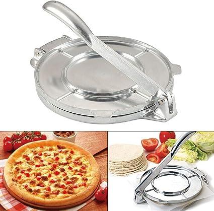 Heavy Gauge Manual Restaurant Cast Iron Flour Corn Tortilla Press Maker for Pizza Aluminum Tortilla Press 7.8 Inch Bread