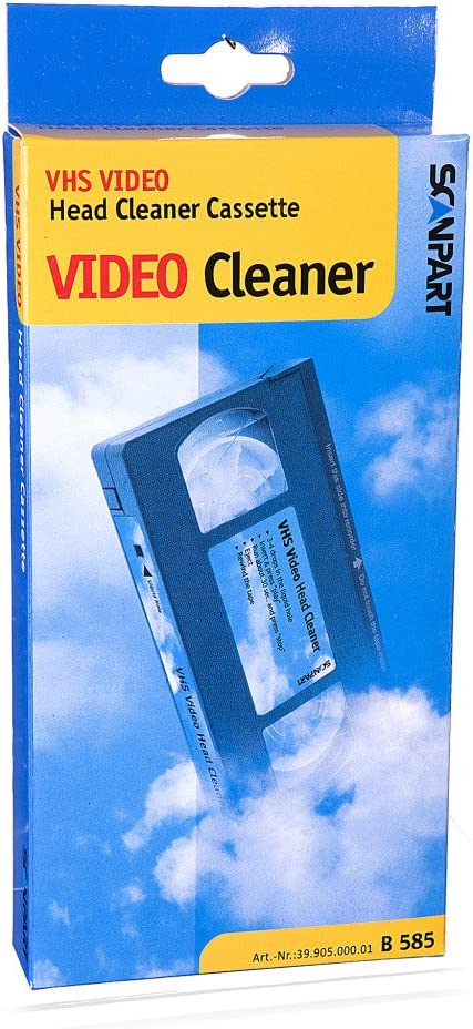 Scan Part Universal Vhs Video Head Cleaning Tape Cassette Cleaner Amazon De Musical Instruments