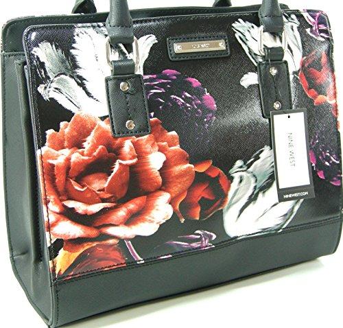 New Nine West Logo Purse Crossbody Hand Bag Satchel Tote You & Me Floral Flowers