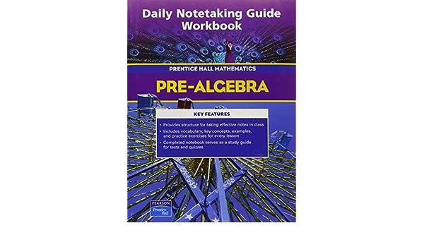 amazon com prentice hall math pre algebra daily notetaking guide rh amazon com Students for Note Taking Guide Geometry Notetaking Guide