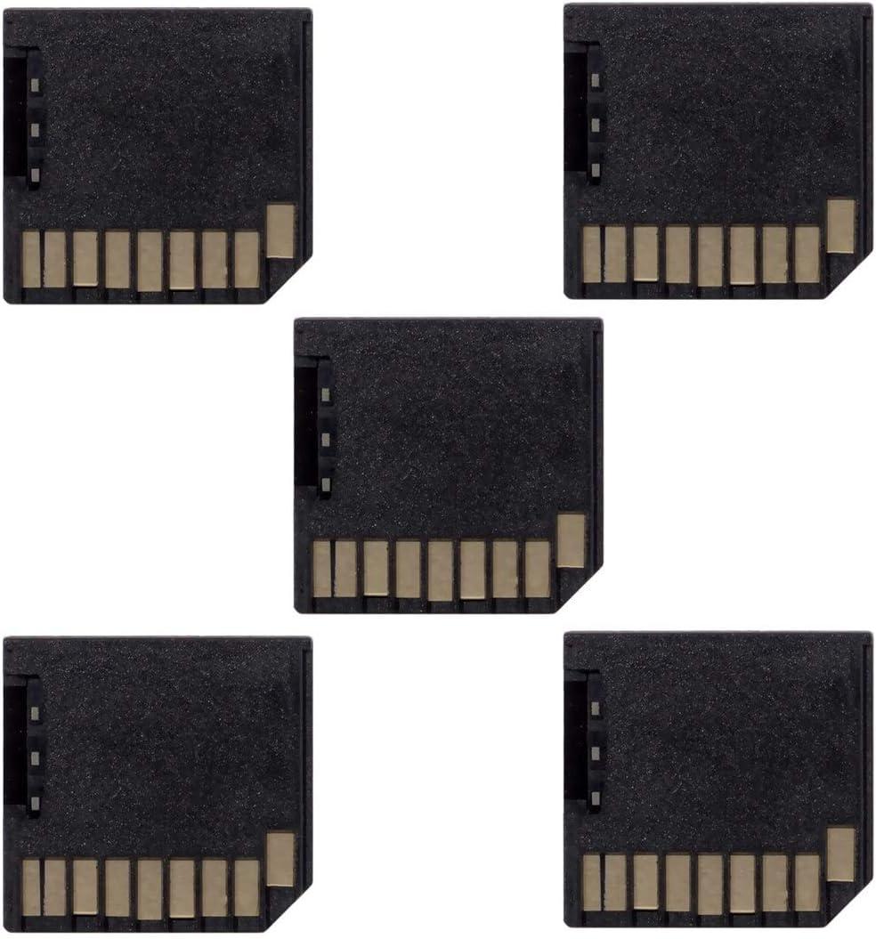 Cablecc 5pcs Micro SD TF to SD Card Kit Mini Adaptor Low Profile for Extra Storage Air/Pro/Retina Black