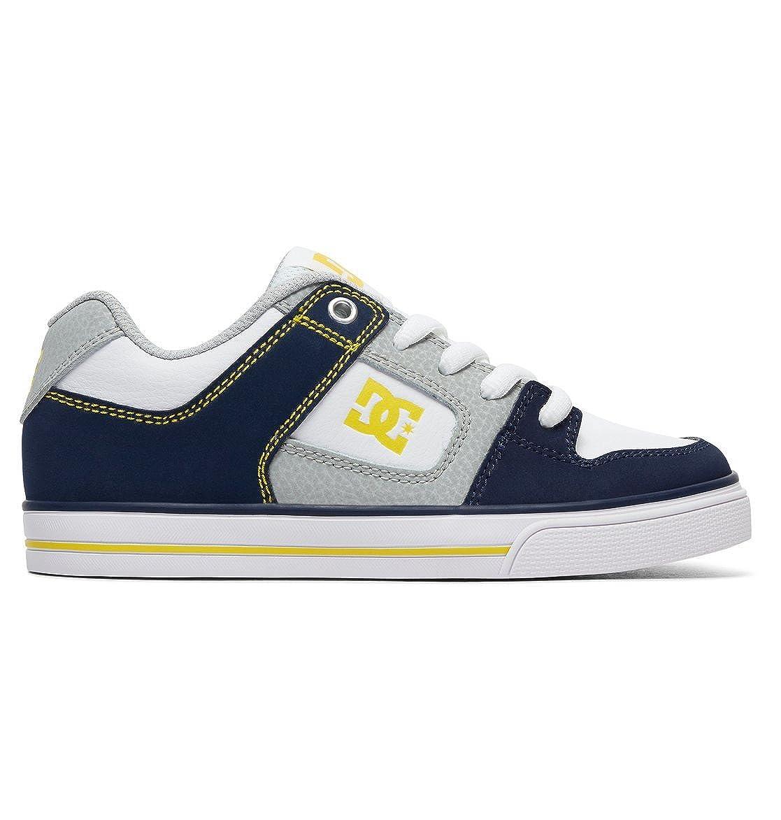 Bleu - Navy gris DC chaussures - Pure - baskets Basses - Garçon 38 EU