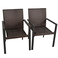 Deals on 2-Piece Bali Outdoors Wicker Patio Dining Set