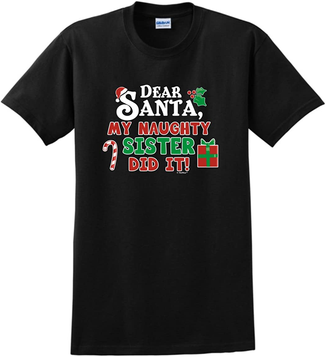 Chihuahua Dear Santa This Year I Was Nice Naughty I Tried My Best Men/'s T-Shirt