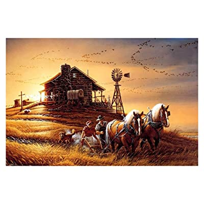 RoadSight Adults/Kids Jigsaw Puzzle Toys, 1000 Pieces Jigsaws Picture Puzzles Western Scenery Wooden Assembling Games Educational Toys, Difficult Family Funny Puzzle Games 75×50cm: Toys & Games