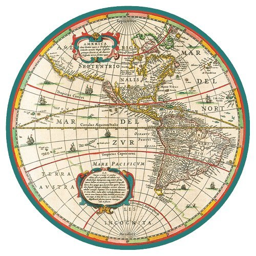 Paper Plates Dinner Size World Map 16 Count (Plate Map)