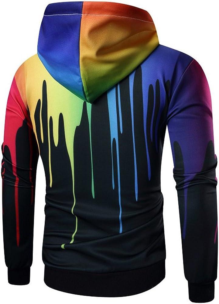 Mens Casual Slim Fit Hoodie Jacket Full Zipper Sweatshirt Tie Dye Lightweight Athletic Tops