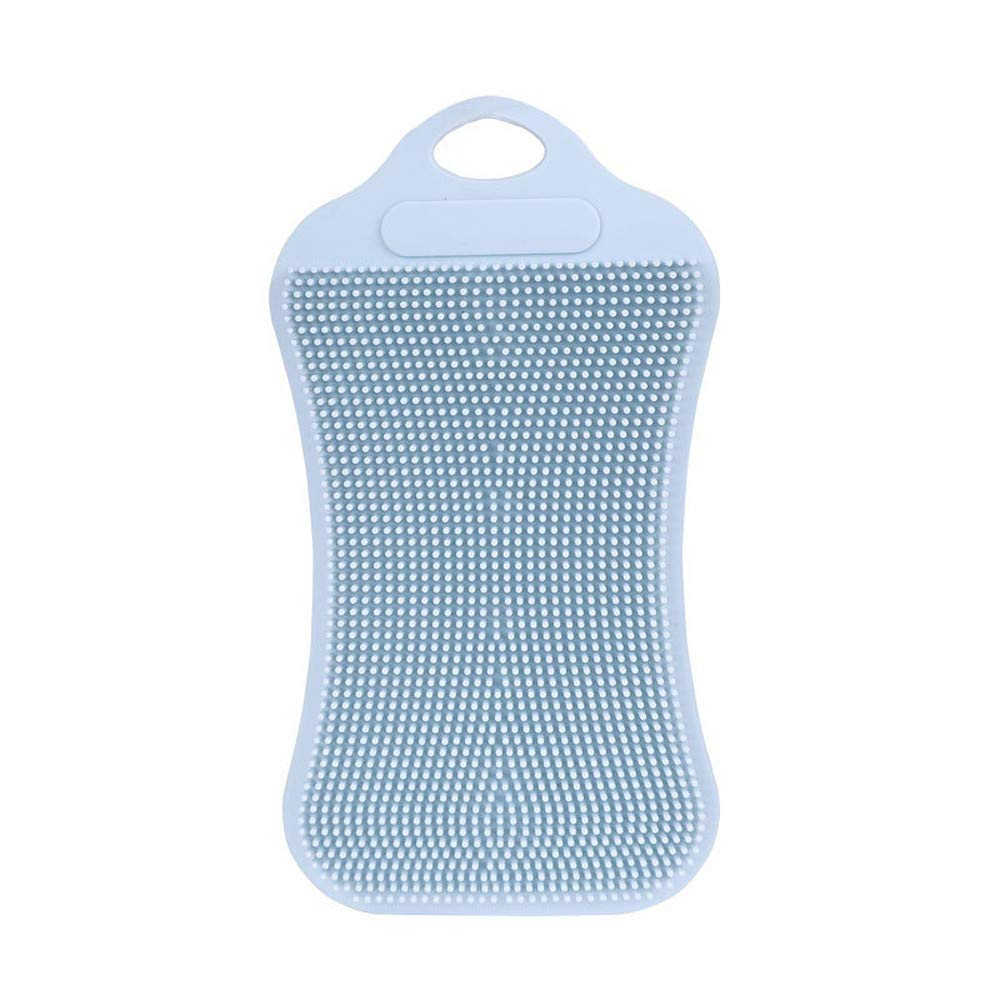 MSOO 1Pc Silicone Dish Washing Sponge Scrubber Kitchen Cleaning Antibacterial Tool (Gray)