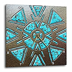 3dRose Designer One of A Kind Native American Art - Wall Clock, 15 by 15-Inch (dpp_108088_3)
