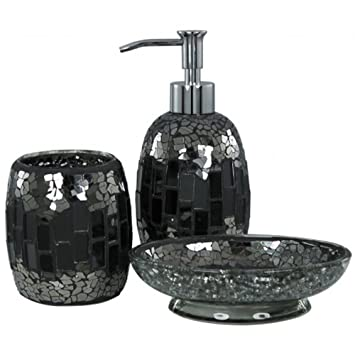 Seifenspender Set sparkle mosaik badezimmer set seifenschale seifenspender becher