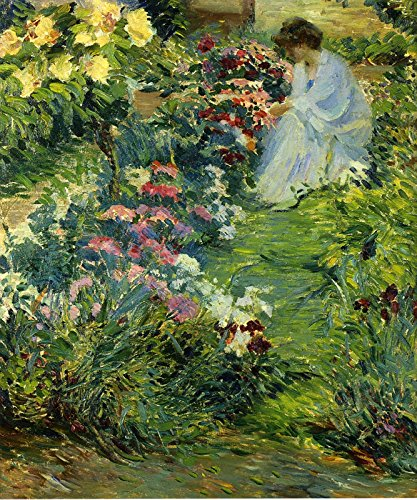 John Leslie Breck Woman in a Garden Private Collection 30