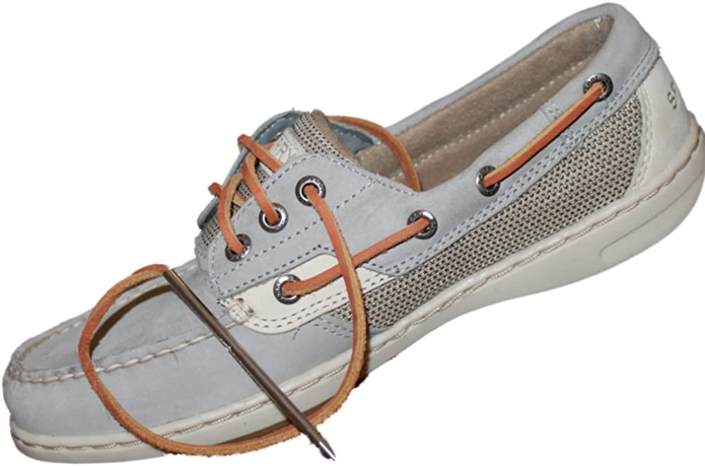 Boat Shoe Laces Leather By TOFL (Tan): Shoes